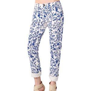 DVF Loves Current Elliott floral Jeans Sz 31